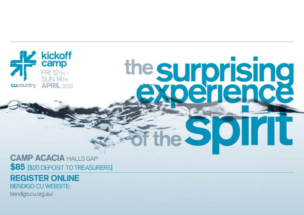 Kick Off Camp 2013 Holy Spirit