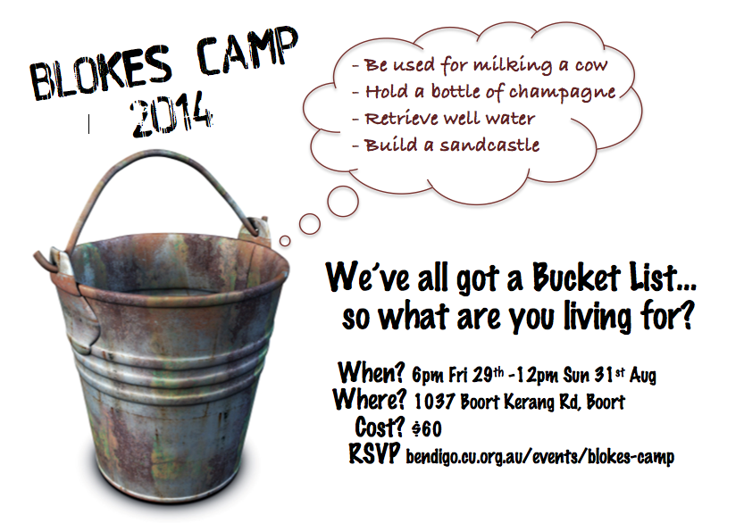 Blokes Camp flyer